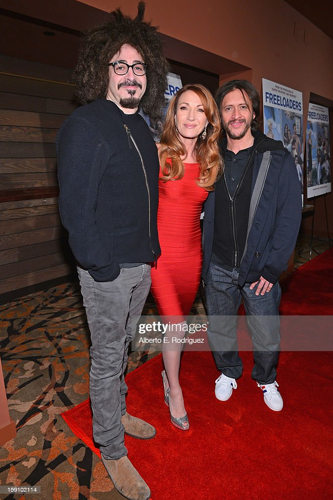 Singer <a gi-track='captionPersonalityLinkClicked' href=/galleries/search?phrase=Adam+Duritz&family=editorial&specificpeople=207121 ng-click='$event.stopPropagation()'>Adam Duritz</a>, actress Jane Seymour and actor <a gi-track='captionPersonalityLinkClicked' href=/galleries/search?phrase=Clifton+Collins+Jr.&family=editorial&specificpeople=540063 ng-click='$event.stopPropagation()'>Clifton Collins Jr.</a> arrive to the premiere of Salient Media's 'Freeloaders' at Sundance Cinema on January 7, 2013 in Los Angeles, California.