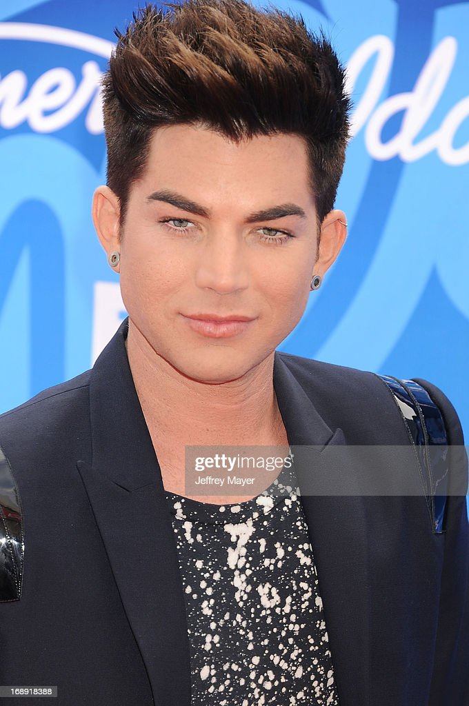 Singer <a gi-track='captionPersonalityLinkClicked' href=/galleries/search?phrase=Adam+Lambert&family=editorial&specificpeople=5706674 ng-click='$event.stopPropagation()'>Adam Lambert</a> arrives at FOX's 'American Idol' Grand Finale at Nokia Theatre L.A. Live on May 16, 2013 in Los Angeles, California.