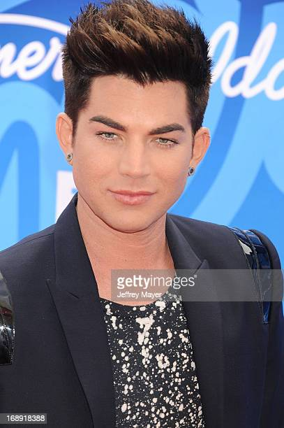 Singer Adam Lambert arrives at FOX's 'American Idol' Grand Finale at Nokia Theatre LA Live on May 16 2013 in Los Angeles California