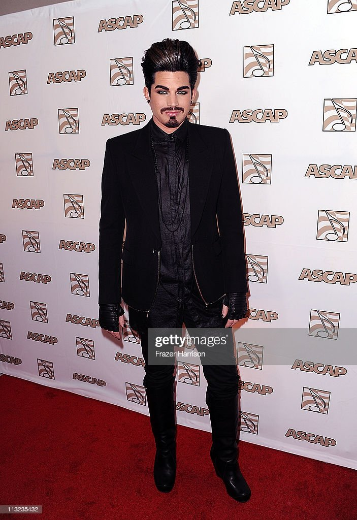 Singer Adam Lambert arrives at the 28th Annual ASCAP Pop Music Awards at the Grand Ballroom Renaissance Hollywood Hotel on April 27 2011 in Hollywood...
