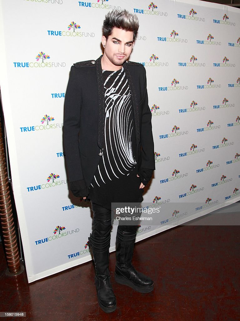 Singer <a gi-track='captionPersonalityLinkClicked' href=/galleries/search?phrase=Adam+Lambert&family=editorial&specificpeople=5706674 ng-click='$event.stopPropagation()'>Adam Lambert</a> arrives at The Beacon Theatre on December 8, 2012 in New York City.