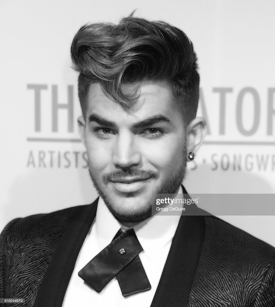 Singer Adam Lambert arrives at The Creators Party Presented by Spotify, Cicada, Los Angeles at Cicada on February 13, 2016 in Los Angeles, California.