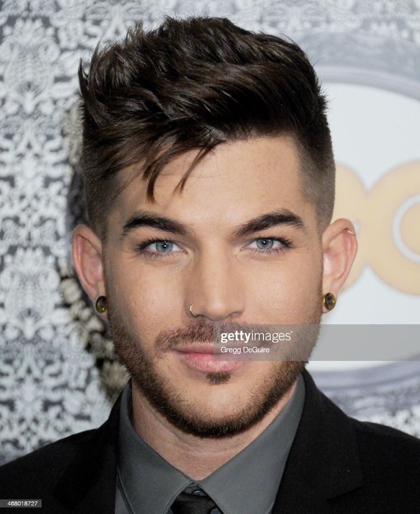 Singer Adam Lambert arrives at the Family Equality Council's Annual Los Angeles Awards Dinner at The Globe Theatre on February 8 2014 in Universal...