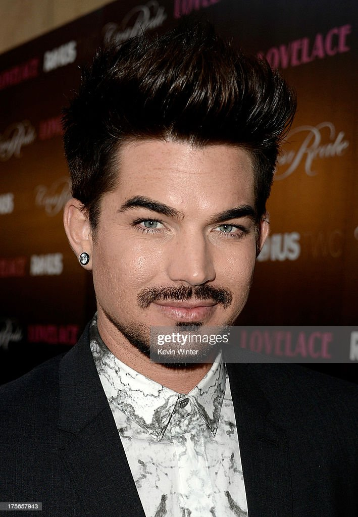 Singer <a gi-track='captionPersonalityLinkClicked' href=/galleries/search?phrase=Adam+Lambert&family=editorial&specificpeople=5706674 ng-click='$event.stopPropagation()'>Adam Lambert</a> arrives at the premiere of RADiUS-TWC's 'Lovelace' at the Egyptian Theatre on August 5, 2013 in Hollywood, California.