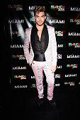 Singer Adam Lambert atends Miami Magazine's Splashion At Fillmore Miami Beach at Fillmore Miami Beach on July 14 2015 in Miami Beach Florida