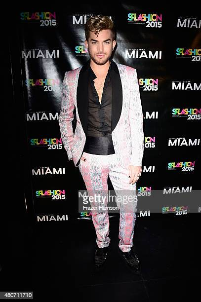 Singer Adam Lambert atends Miami Magazine's Splashion At Fillmore Miami Beach at Fillmore Miami Beach on July 14 2015 in Miami Beach Florida