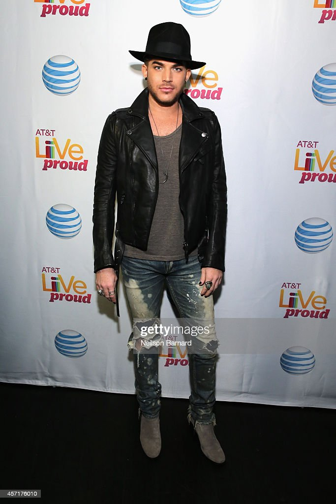 Singer <a gi-track='captionPersonalityLinkClicked' href=/galleries/search?phrase=Adam+Lambert&family=editorial&specificpeople=5706674 ng-click='$event.stopPropagation()'>Adam Lambert</a> attends AT&T Live Proud at Highline Ballroom on October 13, 2014 in New York City.