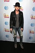 Singer Adam Lambert attends ATT Live Proud at Highline Ballroom on October 13 2014 in New York City