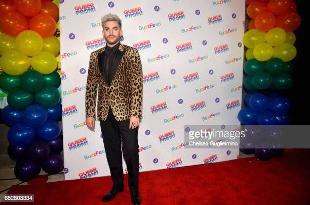 Singer Adam Lambert attends Buzzfeed hosts the 1st Inaugural Queer Prom for LGBT Youth in Los Angeles at Siren Studios on May 13 2017 in Hollywood...