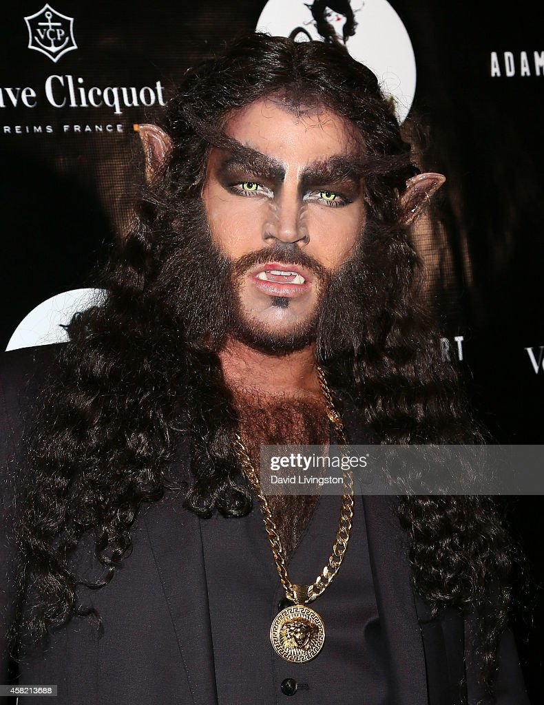 Singer <a gi-track='captionPersonalityLinkClicked' href=/galleries/search?phrase=Adam+Lambert&family=editorial&specificpeople=5706674 ng-click='$event.stopPropagation()'>Adam Lambert</a> attends his 2nd Annual Halloween Bash at Bootsy Bellows on October 31, 2014 in West Hollywood, California.