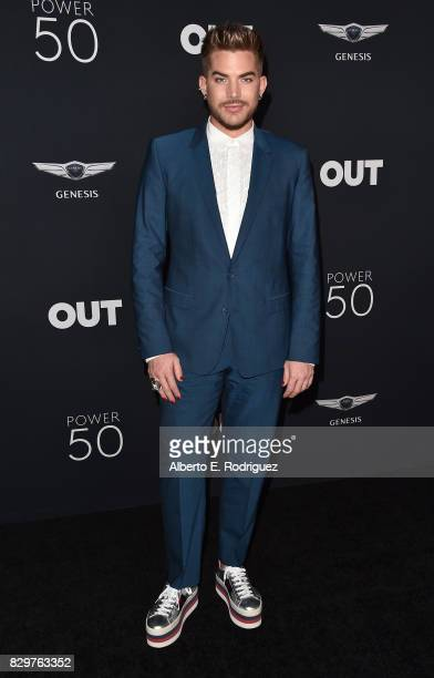Singer Adam Lambert attends OUT Magazine's Inaugural Power 50 Gala Awards Presentation at Goya Studios on August 10 2017 in Los Angeles California