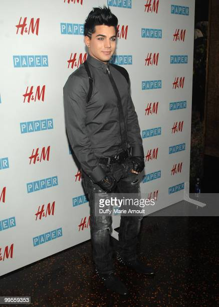 Singer Adam Lambert attends Paper Magazine 13th Annual Beautiful People Issue Celebration at The Standard Hotel on May 13 2010 in Los Angeles...