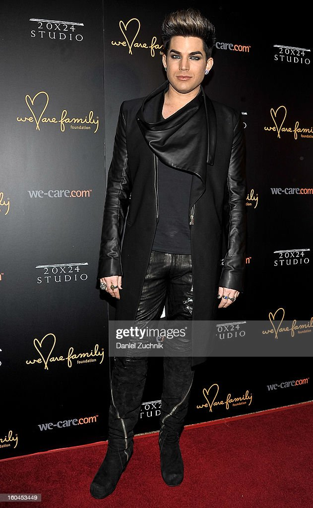 Singer Adam Lambert attends the 2013 We Are Family Foundation Gala at Hammerstein Ballroom on January 31, 2013 in New York City.