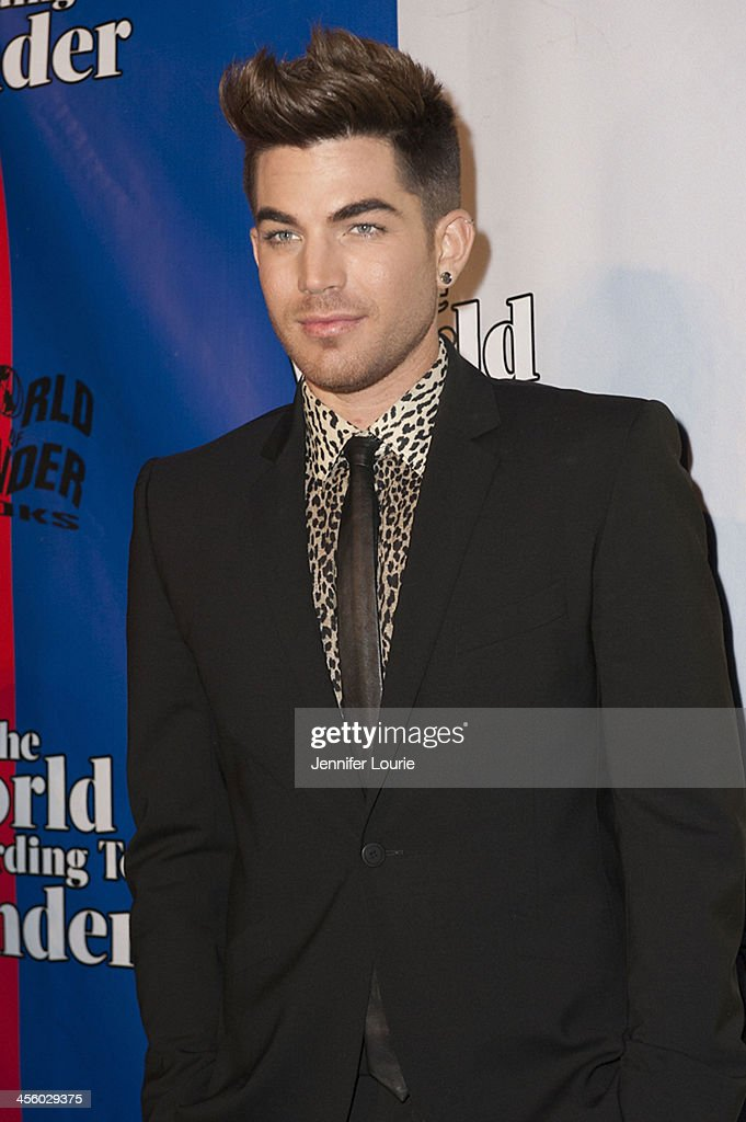 Singer <a gi-track='captionPersonalityLinkClicked' href=/galleries/search?phrase=Adam+Lambert&family=editorial&specificpeople=5706674 ng-click='$event.stopPropagation()'>Adam Lambert</a> attends the 2013 World of Wonder Holiday Party and 1st Annyal WOWie Awards at The Globe Theatre on December 12, 2013 in Universal City, California.