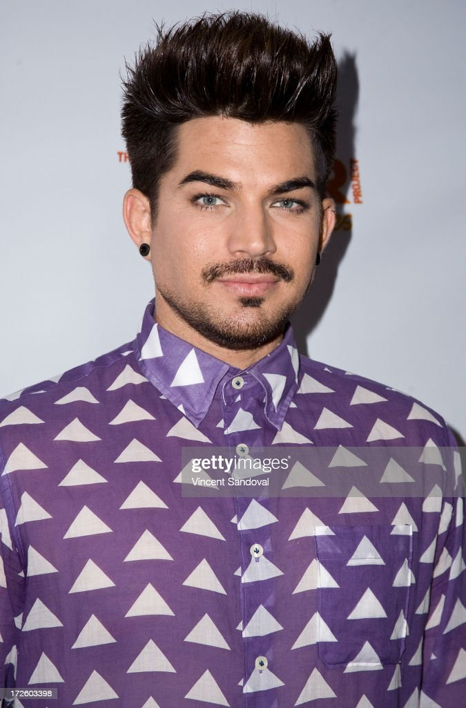 Singer Adam Lambert attends the Adam Lambert performance and check donation presentation to The Trevor Project for 'Live Proud' Campaign at Playhouse Hollywood on July 3, 2013 in Los Angeles, California.
