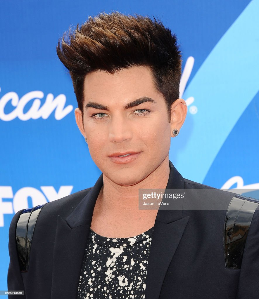 Singer Adam Lambert attends the American Idol 2013 finale at Nokia Theatre L.A. Live on May 16, 2013 in Los Angeles, California.