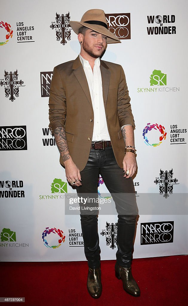 Singer <a gi-track='captionPersonalityLinkClicked' href=/galleries/search?phrase=Adam+Lambert&family=editorial&specificpeople=5706674 ng-click='$event.stopPropagation()'>Adam Lambert</a> attends the Marco Marco: Collection Three Runway Presentation at Vibiana Cathedral on October 14, 2014 in Los Angeles, California.