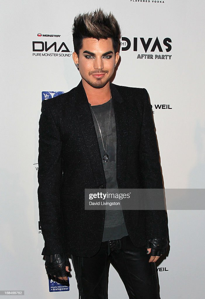 Singer Adam Lambert attends the VH1 Divas After Party to benefit the VH1 Save The Music Foundation at the Shrine Expo Hall on December 16, 2012 in Los Angeles, California.