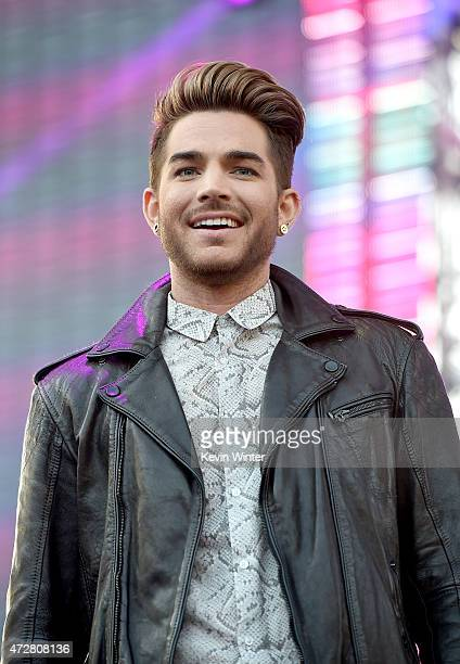 Singer Adam Lambert introduces Sia onstage during 1027 KIIS FM's 2015 Wango Tango at StubHub Center on May 9 2015 in Los Angeles California
