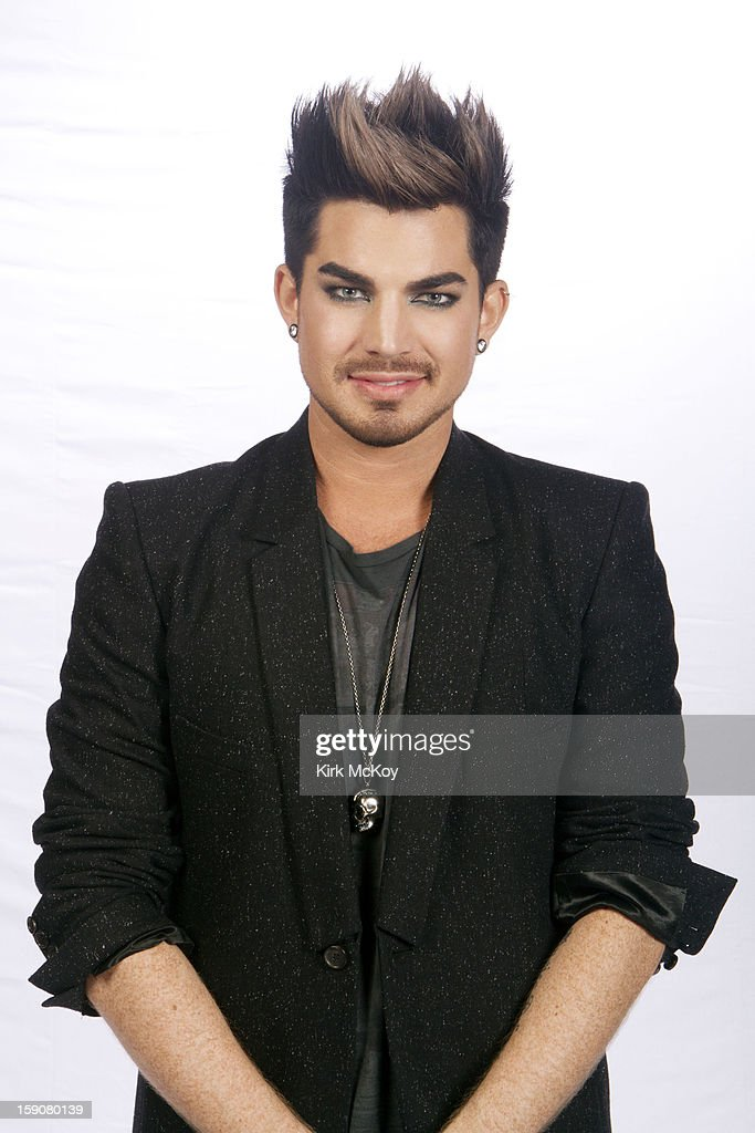 Singer Adam Lambert is photographed for Los Angeles Times at the VH1 Diva's concert on December 16, 2012 in Los Angeles, California.
