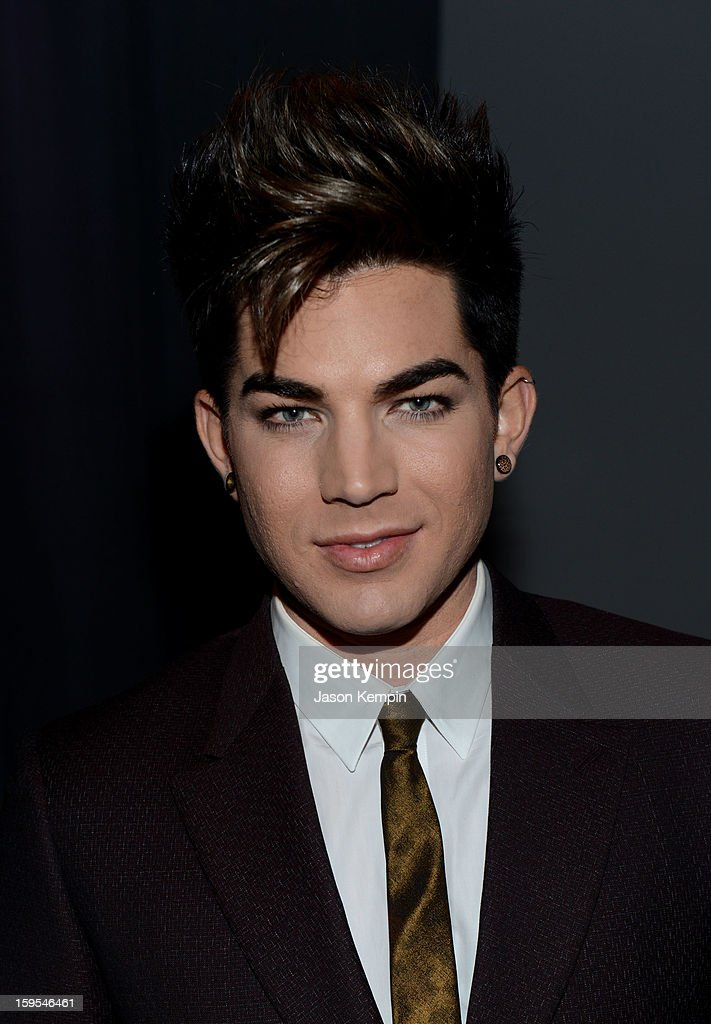 Singer Adam Lambert joined President Bill Clinton and Kobe Bryant at the grand opening of STEP UP ON VINE on January 14, 2013 in Los Angeles, California.