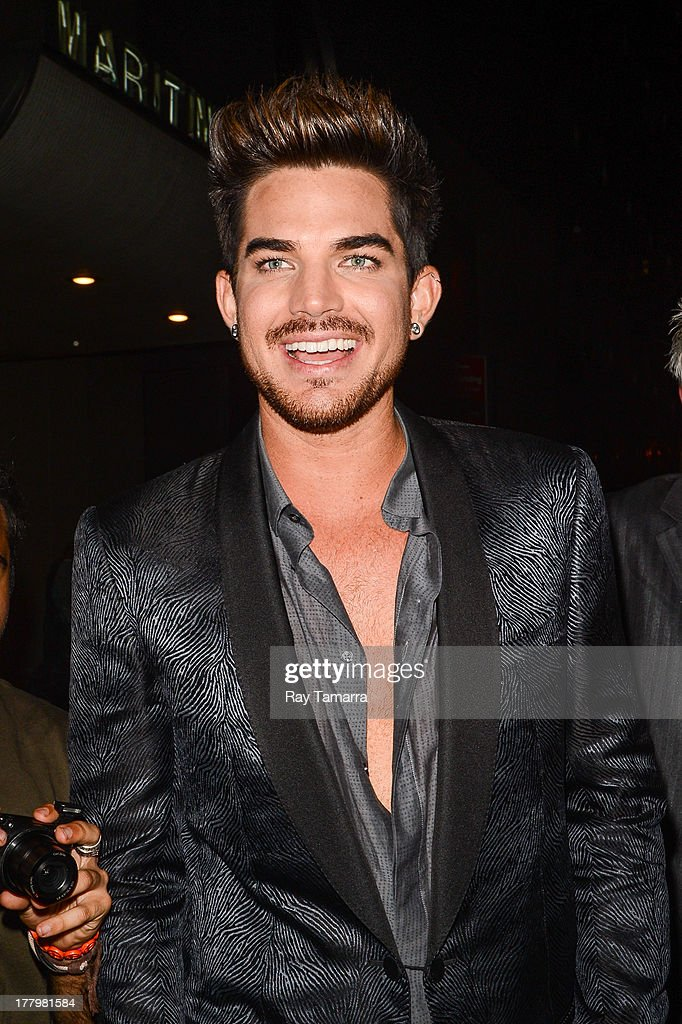 Singer <a gi-track='captionPersonalityLinkClicked' href=/galleries/search?phrase=Adam+Lambert&family=editorial&specificpeople=5706674 ng-click='$event.stopPropagation()'>Adam Lambert</a> leaves the Dream Downtown hotel on August 25, 2013 in New York City.