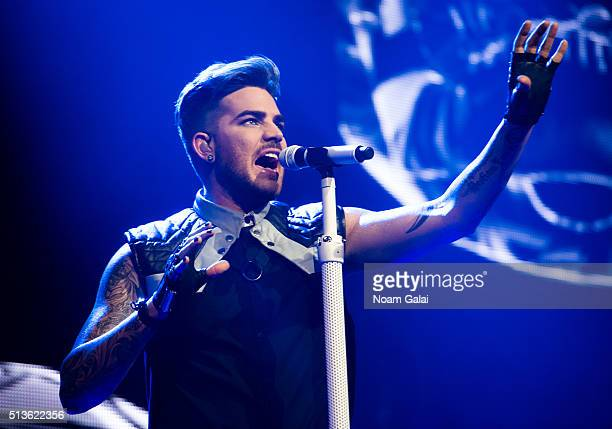 Singer Adam Lambert performs in concert at Terminal 5 on March 3 2016 in New York City