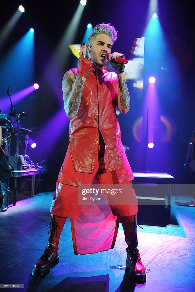 Singer Adam Lambert performs live on stage during his 'Original High' tour at Hammersmith Apollo on April 14 2016 in London England