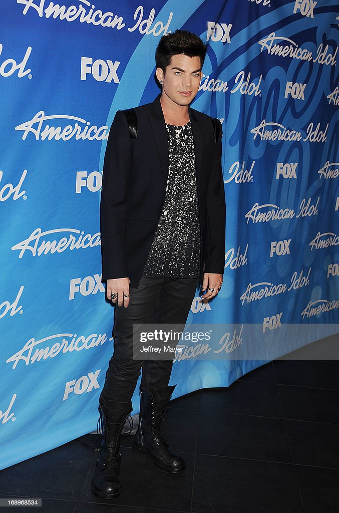 Singer <a gi-track='captionPersonalityLinkClicked' href=/galleries/search?phrase=Adam+Lambert&family=editorial&specificpeople=5706674 ng-click='$event.stopPropagation()'>Adam Lambert</a> poses in the press room at FOX's 'American Idol' Grand Finale at Nokia Theatre L.A. Live on May 16, 2013 in Los Angeles, California.