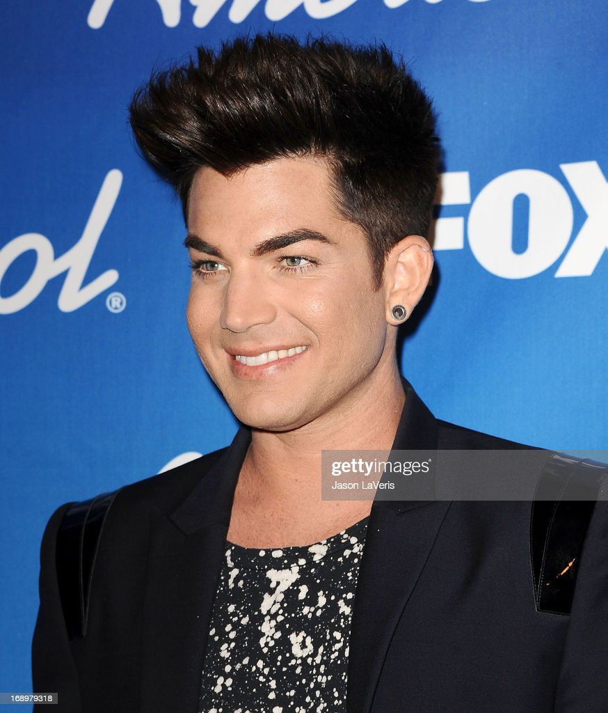Singer Adam Lambert poses in the press room at the American Idol 2013 finale at Nokia Theatre L.A. Live on May 16, 2013 in Los Angeles, California.