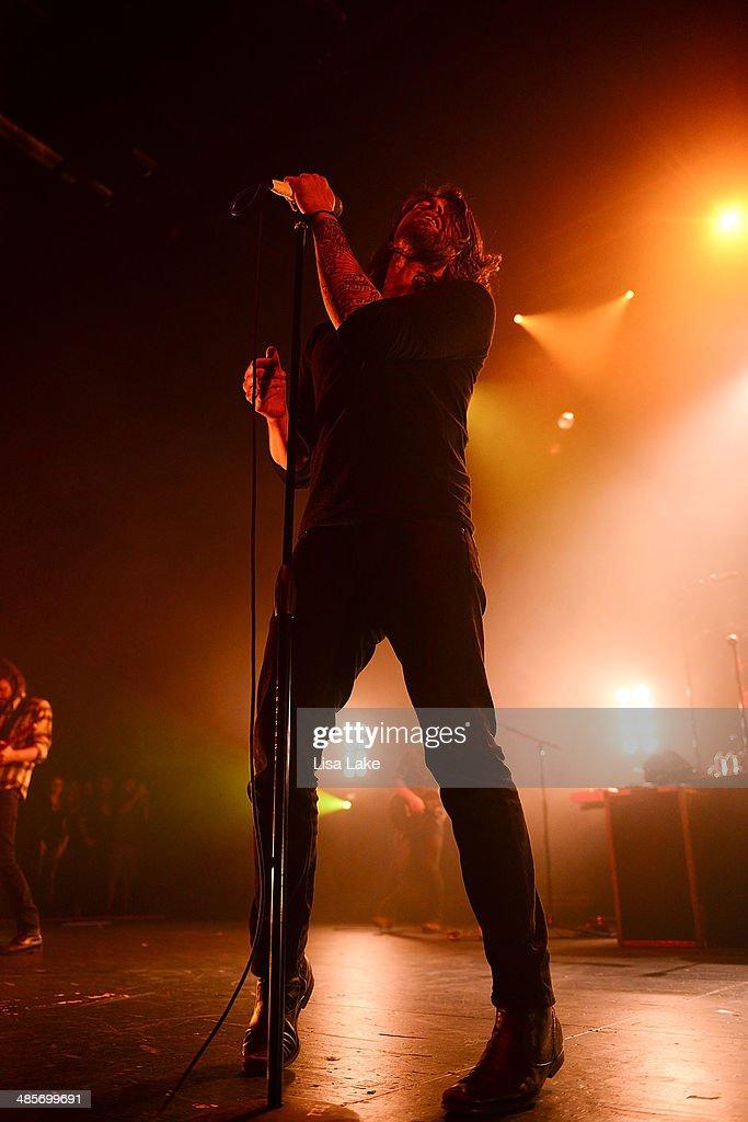 Singer Adam Lazzara of Taking Back Sunday performs at Sands Bethlehem Event Center on April 19, 2014 in Bethlehem, Pennsylvania.