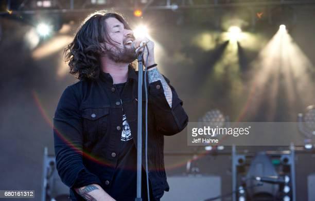 Singer Adam Lazzara of Taking Back Sunday performs during Carolina Rebellion at Charlotte Motor Speedway on May 7 2017 in Charlotte North Carolina