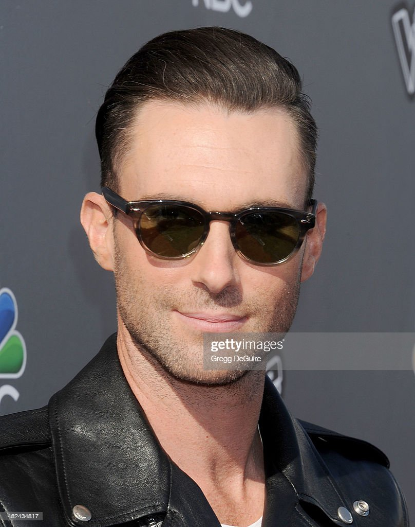 Singer Adam Levine arrives at NBC's 'The Voice' red carpet event at The Sayers Club on April 3, 2014 in Hollywood, California.