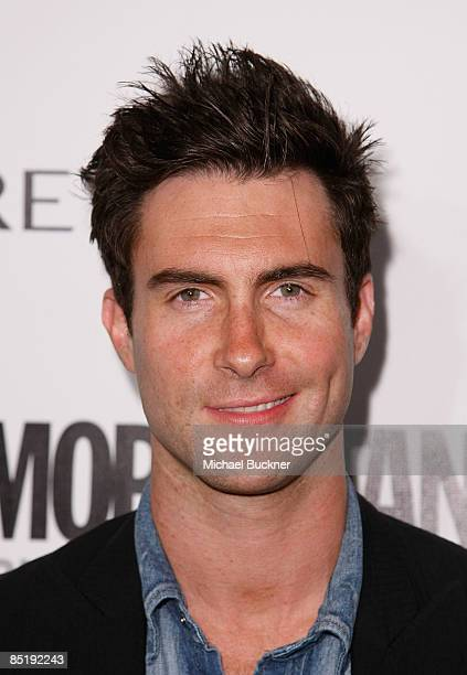 Singer Adam Levine arrives at the Cosmopolitan Honors Its Fun Fearless Males of 2009 at the SLS Hotel on March 2 2009 in Beverly Hills California