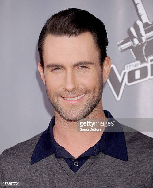 Singer Adam Levine arrives at 'The Voice' Season 5 Top 12 red carpet event at Universal Studios Hollywood on November 7 2013 in Universal City...