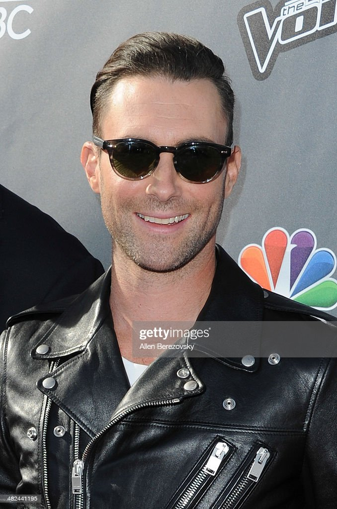 Singer Adam Levine attends NBC's 'The Voice' Red Carpet Event at The Sayers Club on April 3, 2014 in Hollywood, California.
