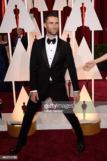 Singer Adam Levine attends the 87th Annual Academy Awards at Hollywood Highland Center on February 22 2015 in Hollywood California
