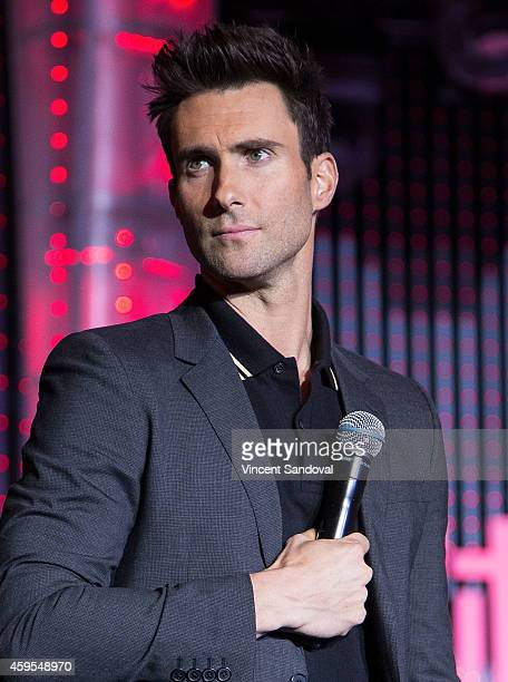 Singer Adam Levine attends the Universal CityWalk Tree Lighting Ceremony at Universal CityWalk on November 24 2014 in Universal City California