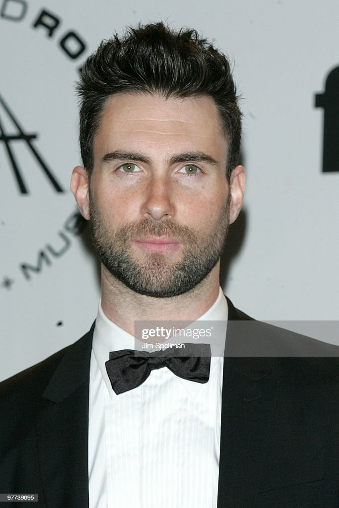 Singer Adam Levine of Maroon 5 attends the 25th Annual Rock and Roll Hall of Fame Induction Ceremony at Waldorf=Astoria on March 15, 2010 in New York, New York.