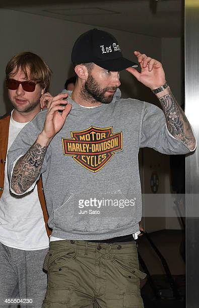 Singer Adam Levine of Maroon 5 is seen upon arrival at Narita International Airport on September 16 2014 in Narita Japan
