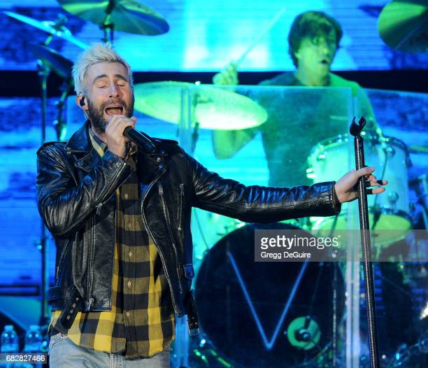 Singer Adam Levine of Maroon 5 performs at 1027 KIIS FM's 2017 Wango Tango at StubHub Center on May 13 2017 in Carson California