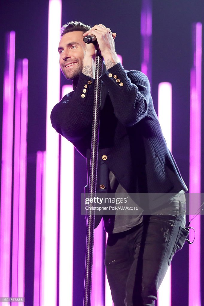 Singer Adam Levine of Maroon 5 performs onstage at the 2016 American Music Awards at Microsoft Theater on November 20, 2016 in Los Angeles, California.