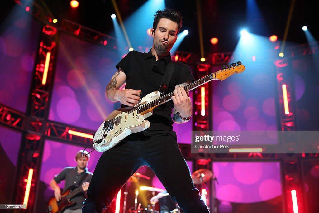 Singer <a gi-track='captionPersonalityLinkClicked' href=/galleries/search?phrase=Adam+Levine+-+Singer&family=editorial&specificpeople=202962 ng-click='$event.stopPropagation()'>Adam Levine</a> of Maroon 5 performs onstage at The GRAMMY Nominations Concert Live!! held at Bridgestone Arena on December 5, 2012 in Nashville, Tennessee.