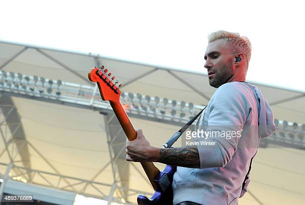 Singer Adam Levine of Maroon 5 performs onstage during 1027 KIIS FM's 2014 Wango Tango at StubHub Center on May 10 2014 in Los Angeles California