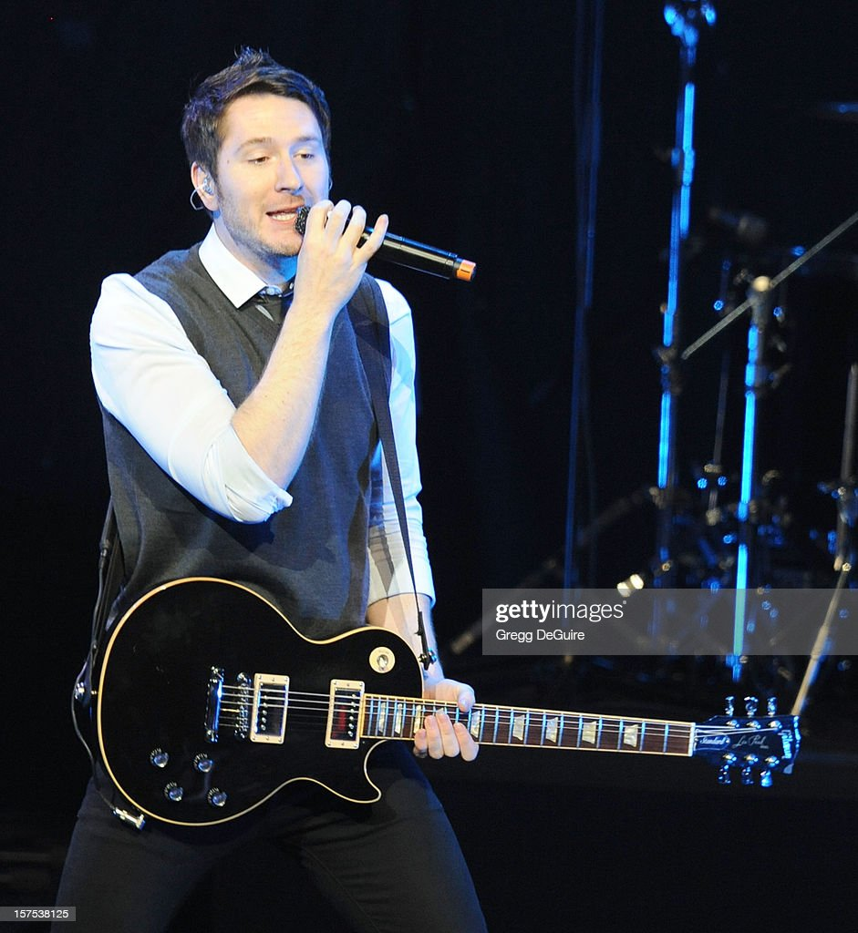Singer Adam Young of Owl City performs at KIIS FM's Jingle Ball 2012 night 2 at Nokia Theatre LA Live on December 3, 2012 in Los Angeles, California.