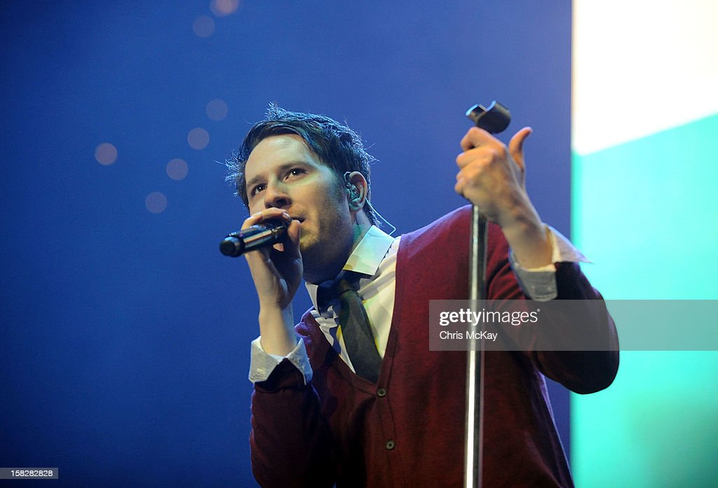 Singer Adam Young performs onstage during Power 96.1's Jingle Ball 2012 at the Philips Arena on December 12, 2012 in Atlanta.