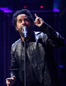 Singer Adel Tawil performs on stage during the 'Wetten dass' TV Show from Dusseldorf at the ISS Dome on February 22 2014 in Duesseldorf Germany