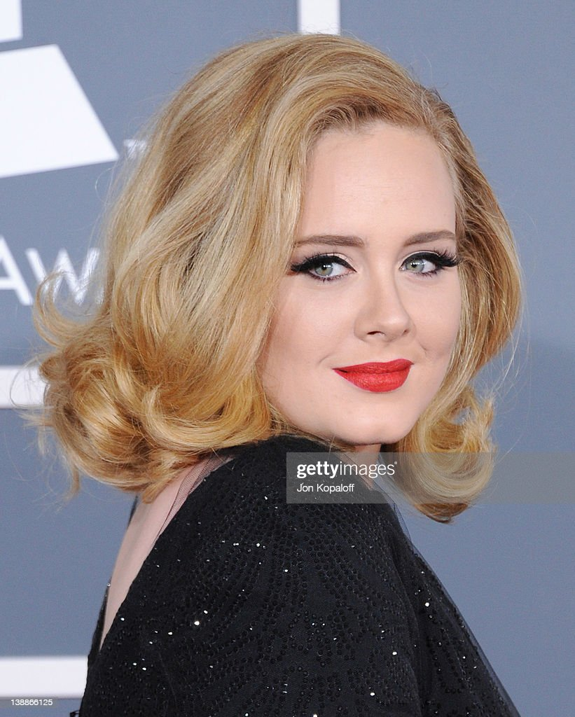 Singer Adele arrives at 54th Annual GRAMMY Awards held the at Staples Center on February 12, 2012 in Los Angeles, California.