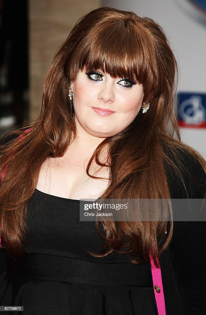 Singer <a gi-track='captionPersonalityLinkClicked' href=/galleries/search?phrase=Adele+-+Singer&family=editorial&specificpeople=4898935 ng-click='$event.stopPropagation()'>Adele</a> arrives at the Mercury Music Prize 2008 at Grosvenor House Hotel on September 9, 2008 in London, England.