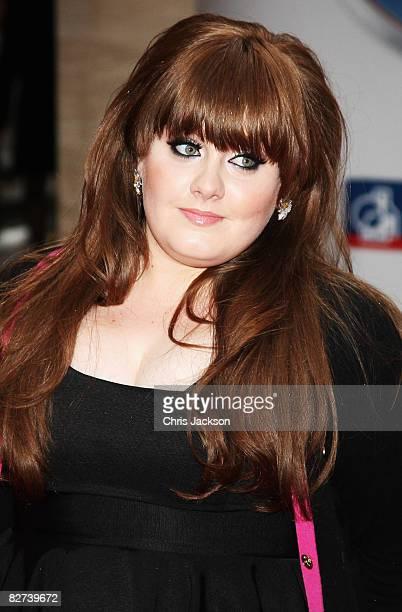 Singer Adele arrives at the Mercury Music Prize 2008 at Grosvenor House Hotel on September 9 2008 in London England